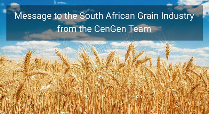 Message to the South African Grain Industry from CenGen
